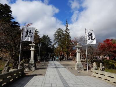 2泊3日でレンタカーを使い晩秋の山形県を巡る/山形新幹線に乗り米沢に入り上杉神社へ