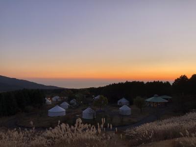 富士山こどもの国でパオに泊まって秋の富士山と星空を堪能!【1日目★園内遊び&パオでお泊まり編】