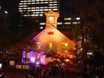 札幌へ紅葉を奏でに♪札幌時計台ルミナリエ~スープカレーとはなんぞや