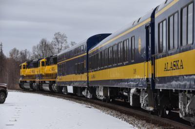 アラスカ鉄道 アンカレッジからフェアバンクス コロナ禍での乗車