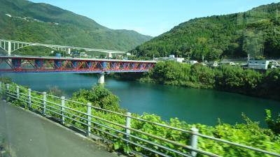四万十川遊覧と、新足摺海洋館(SATOUMI)の見学等 初日02。坂出から吉野川へ。
