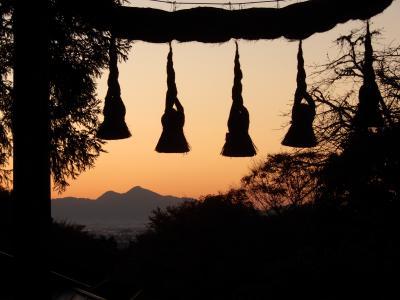 マイクロツーリズム奈良 三輪で温そうめん(にゅうめん) 〆は最高の夕焼け
