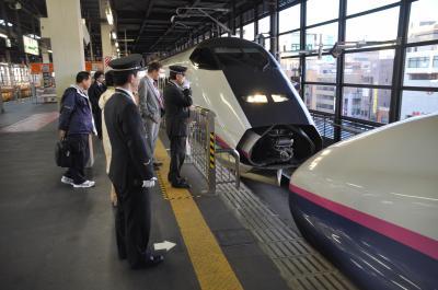 2011年 さっぽろ雪まつり 閉幕後~ 道南秘湯めぐり-C/盛岡駅に停車