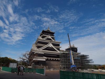 秋の九州旅No.8<熊本市>ぶらり日本の城めぐりその56「熊本城」「けんぞう」で食べるおいしい馬肉と辛子蓮根 「トラスティプレミア熊本」宿泊