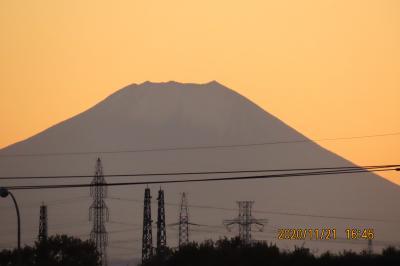 11月21日の素晴らしかった夕焼け富士