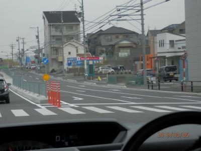 工事その2東海市南側道路開通はなかなかの工事バローあたり