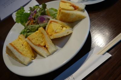 20201125-2 京都 竹田駅の前、カフェでたまごサンド。BAMBOOHOUSE。