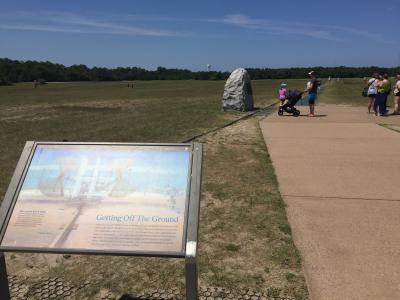 ノースカロライナ州 ライト兄弟国定公園 ー 人類最初の動力飛行場所