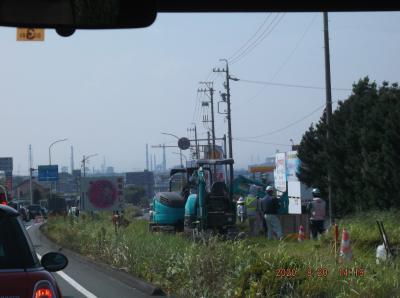 工事その3東海市南側道路開通はなかなかのスシローあたり