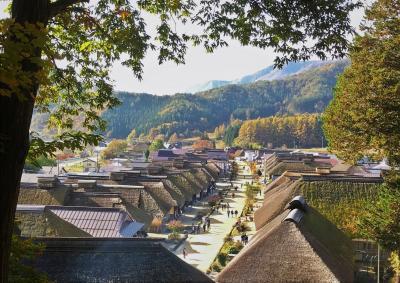 秋空を渡る 江戸の風【大内宿】