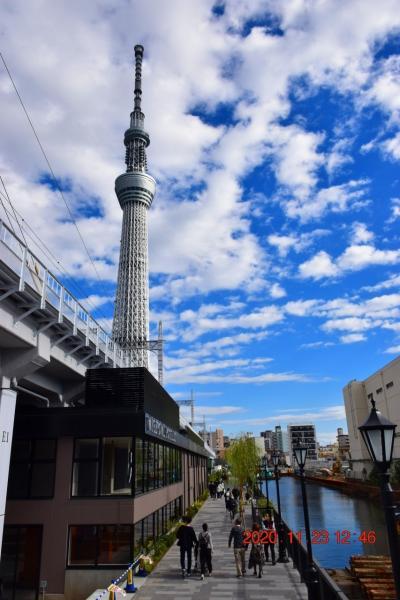 【東京散策112】 スカイツリーから浅草までの最短遊歩道、東京ミズマチとすみだリバーウォークを歩く