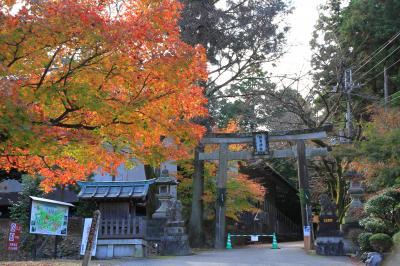 大瀧神社、胡宮神社の紅葉