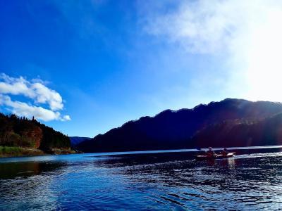 2020年秋:初Go to travel:東京ラブストーリーの舞台『水上山荘』に宿泊&赤谷湖でカヌーを漕いでバンジージャンプを見る:家族で♪