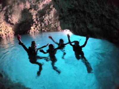 5・7歳連れ、三連休は青の洞窟シュノーケリング、読谷村&恩納村滞在