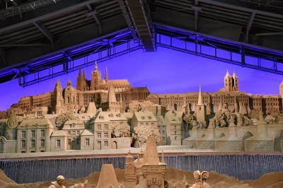 圧倒的な造形の砂像
