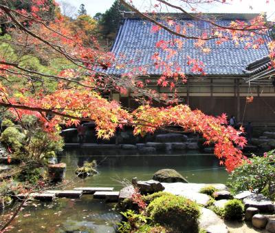 紅葉の天台宗湖東三山釈迦山百済寺