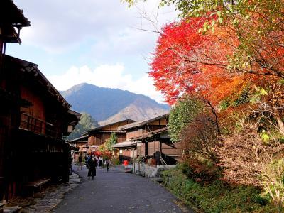 2020.11名古屋へのドライブ旅行4-妻籠宿に買い物による 紅葉がきれい