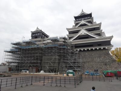 トリプル父子で巡る熊本城の回廊&サクラマチの屋上庭園【みんなの九州きっぷで鉄旅再開!その4】
