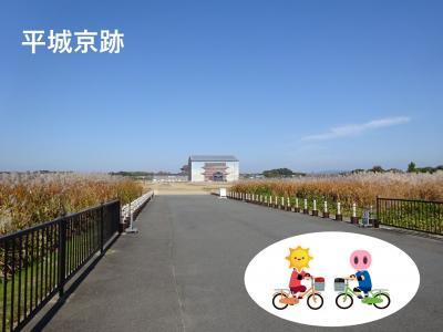 冷や水サイクリングどこでも自転車 平城京跡、法隆寺