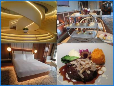 インターコンチ横浜Pier8(2)クラブルーム宿泊、ラウンジでアフタヌーンティ、ラーボードでディナー