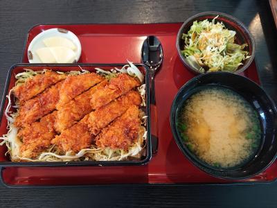 駒ケ根ソースかつ丼とレトロな温泉の会(と言っても一人だけど)