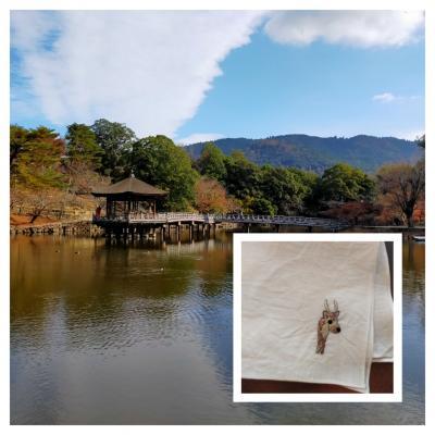 奈良ひとり旅③新薬師寺+旅刺繍は鹿