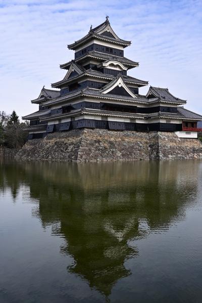国宝松本城・天守階段にビビル ((( ;゚Д゚)))
