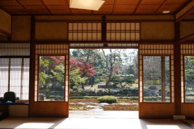 20201210-2 京都 旧三井家下鴨別邸でも、遅い紅葉を