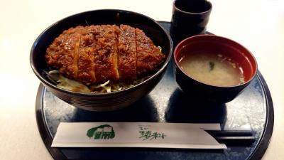 茅野駅直結のベルビアで昼食。モン蓼科さん一番人気の「ソースかつ丼」を食す。