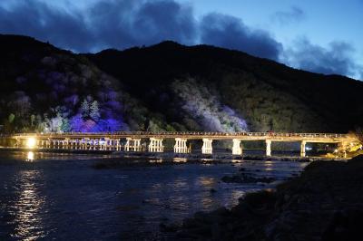20201214-2 京都 冬の寒さが到来した、嵐山。花灯路を歩いてみる。