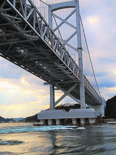 鳴門-4 大型観潮船d わんだーなると 大渦*うず潮 ☆大鳴門橋-両側に見どころ-下船