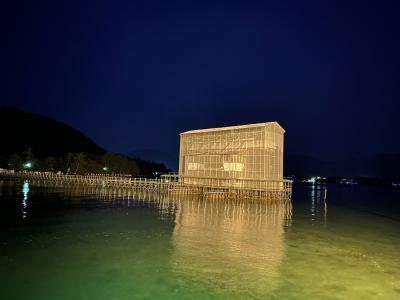 2020年2月 西日本移動性旅行-3 厳島神社の大鳥居は修繕中。。。