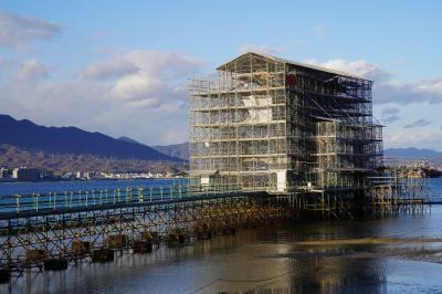 20201217-2 宮島 工事中の厳島神社大鳥居を観に行く