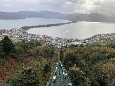 雨にけぶる天橋立(2)笠松展望台~文殊