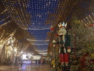 南仏アヴィニヨンのクリスマスイルミネーション