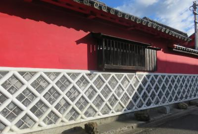 2020暮、四国続日本百名城巡り(5/22):12月4日(4):引田城(4):引田港、城山、かめびし屋、海鼠壁、弁柄色の壁