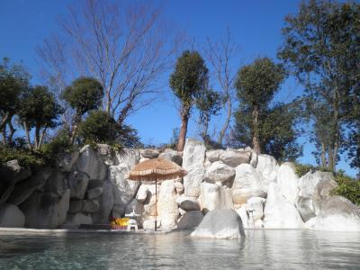 植木温泉で広大な露天風呂を楽しむ旅