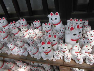 豪徳寺の招き猫を見てきました。