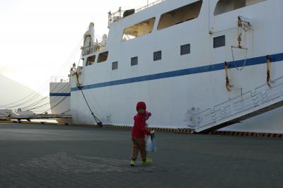 4歳母子旅 in 鹿児島7日間~鹿児島から屋久島のフェリーは子連れ神レベル!フェリーの内部と港を探検編#4~