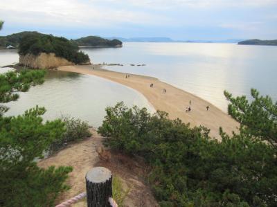四国⑪ 小豆島探訪:後編  エンジェルロード・西光寺三重塔・土渕海峡を巡り、日本料理「島活」で本場の小豆島そうめんを食べる