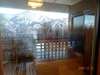 2020年12/22~2泊(^-^)トンネルを抜けると雪、雪/越後湯沢温泉特別室「湯けむりの宿 雪の花」