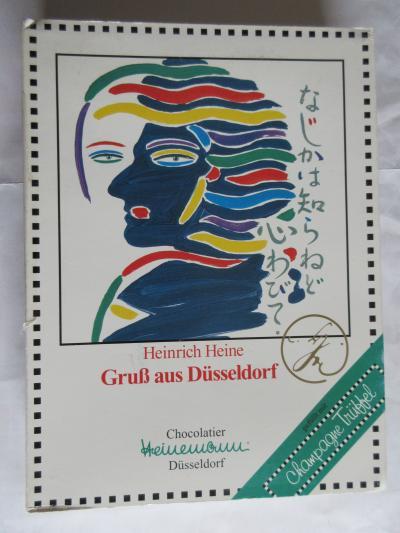 ハインリヒ・ハイネ生誕200年記念事業に協賛し、ハイネマンが名物シャンパントリュフの菓子箱を作った。