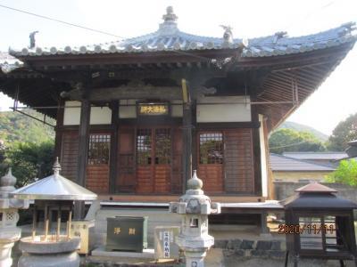 四国霊場最後の巡礼(35)第七十九番霊場天皇寺に参拝後、国分寺へ。