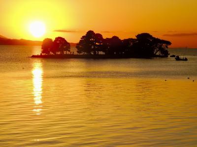 山陰の旅の最後は宍道湖の夕日と美肌の湯