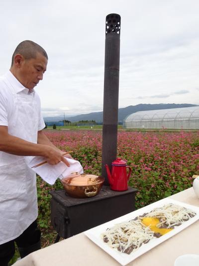 2020年10月 南信州の旅 その4(里山料理倶楽部主催のあか蕎麦畑でランチ)
