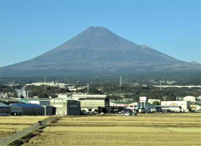 迎春!(雪のない富士山!)