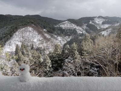 大晦日『雪の吉野山』柿の葉すしを受け取りに「ひょうたろう」へ