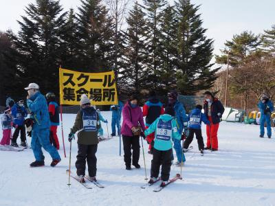 孫たちのスキー教室に年末の蓼科へ