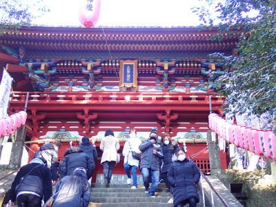 バイクで伊勢神宮初詣 久能山東照宮へ寄りました。