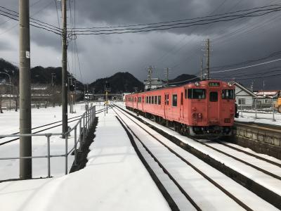 山陰本線の冬景色、浜坂から城崎温泉へ:青春18きっぷの旅(2021年始)、大阪発日帰り